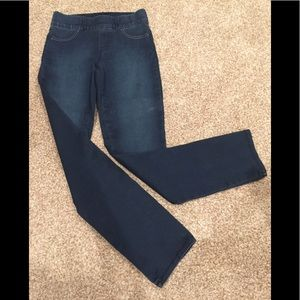 NYDJ PULL-ON STYLE JEANS: Dark Blue: Size 0